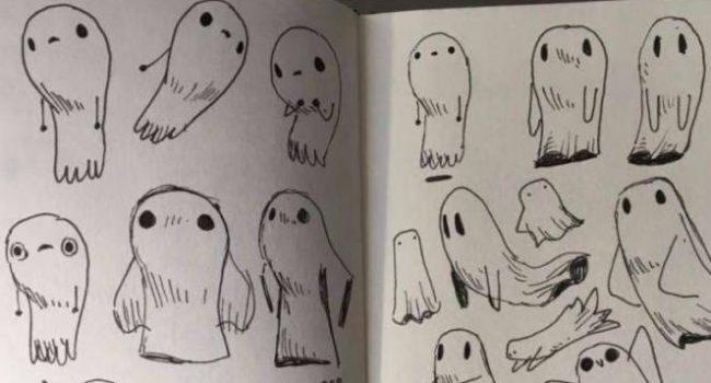 72 Gambar Hantu Yang Gampang Digambar Gratis