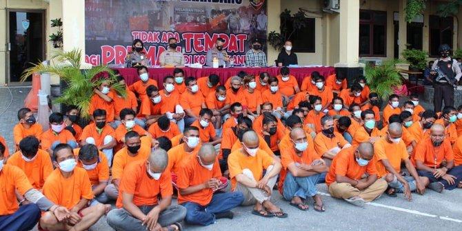 Polrestabes Pekanbaru Amankan 79 Preman Lakukan Pungutan Liar