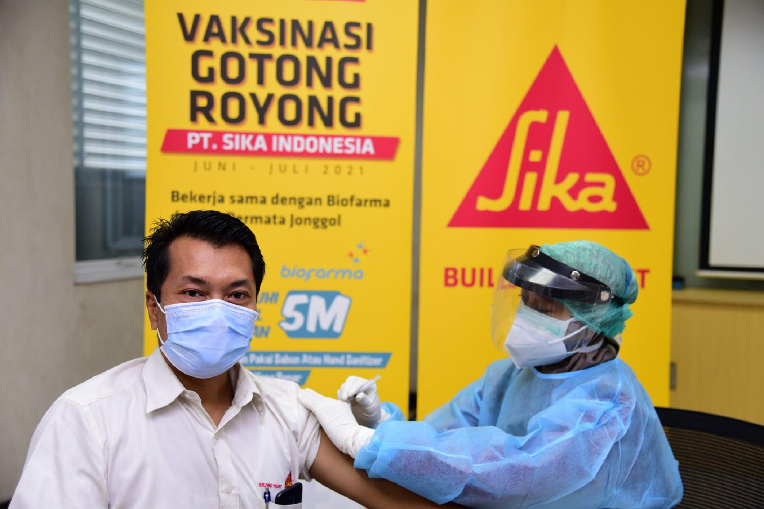 Sika Indonesia Lindungi Kesehatan Pekerja Lewat Vaksinasi Covid-19