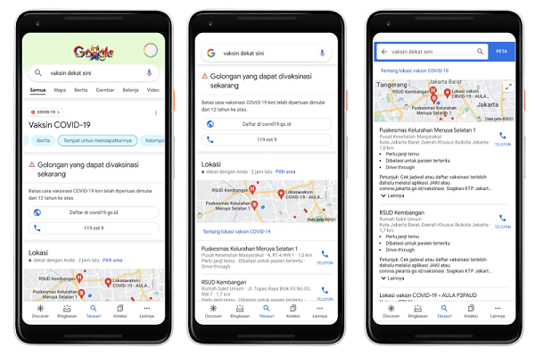 Google Indonesia Meluncurkan Panel Informasi Layanan Vaksin