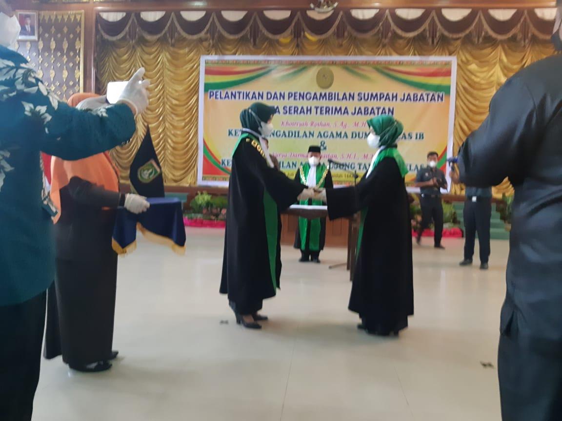 Ketua Pengadilan Agama Dumai Resmi Dijabat Khoiriyah Roihan