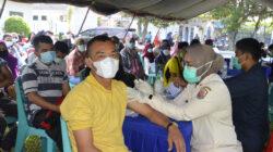 Perang Lawan Covid-19, TNI AL Geber Serbuan Vaksinasi di Dumai