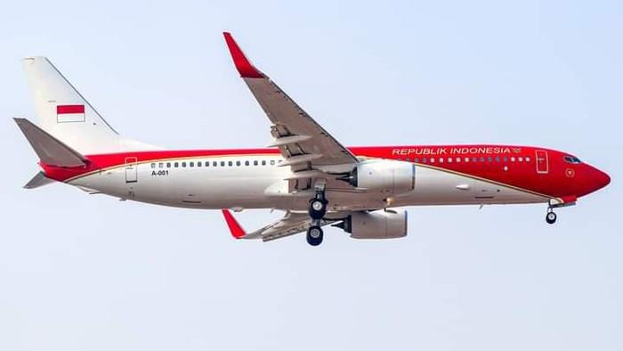 Pesawat Kepresidenan Berubah Warna Merah Putih