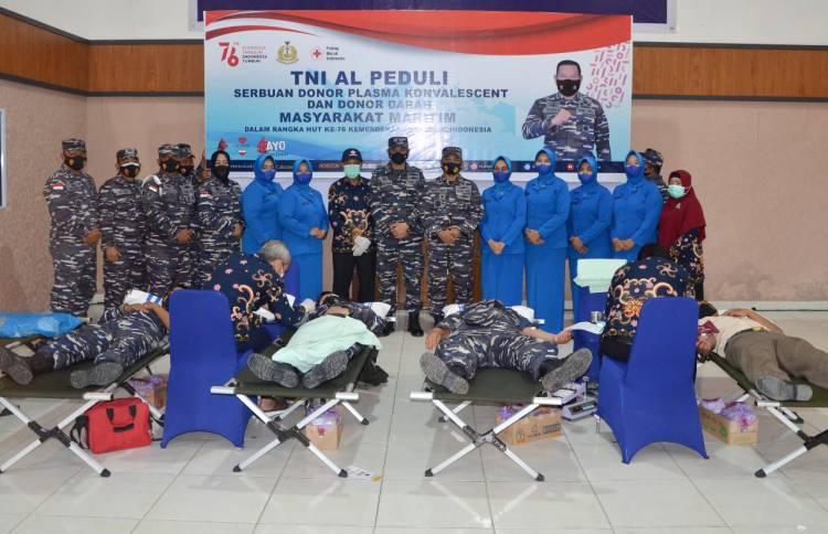 TNI AL Donor Plasma Konvalesen dan Donor Darah di Dumai
