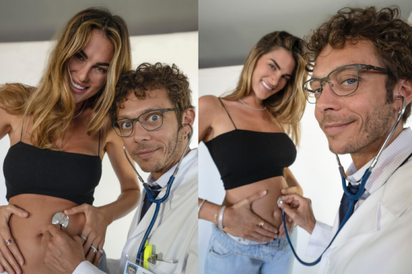 Bergaya Dokter, Valentino Rossi Umumkan Francesca Sofia Novello Hamil