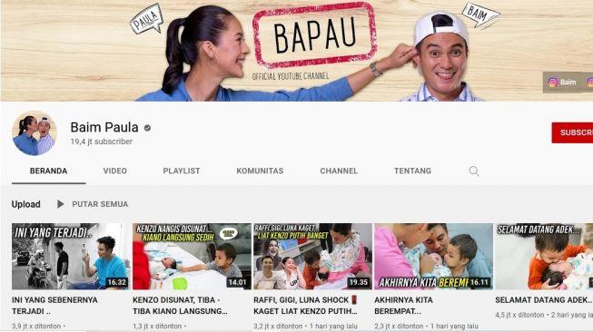Nikita Mirzani Sukses Bikin Kabur Pengikut Chanel YouTube Baim Paula